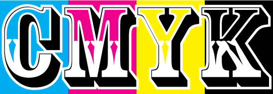 cmyk letters, cmyk printing, digital, offset, graphic design